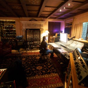 Engineer Dave Alhert at the helm in Give Recording Studios, Los Angeles, CA.
